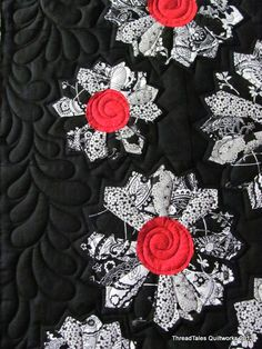 Love black and red. Good quilting ideas