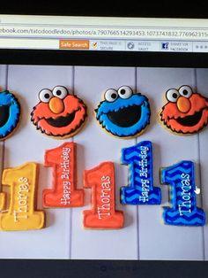 Tato doodledoo's sweets Sesame Street Cookies, Sweets, Birthday, Party, Desserts, Food, Tailgate Desserts, Birthdays, Deserts