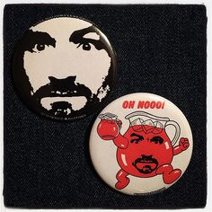 Buttons for Charlie lovers. #blitzkriegbuttons #porkshop | Flickr - Photo Sharing!