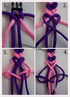 how to make valentine's paracord bracelet