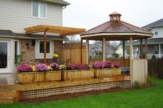 Deck Plans and Ideas | your backyard deck a new look with an attractive curved patio design ...