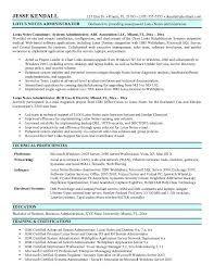 It System Administrator Resume  Resume Samples