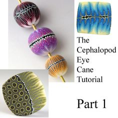 Tutorial  Make a Cephalopod Eye Cane PART 1 by CorvusFlies on Etsy, $5.00