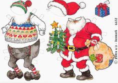 Santa and Mrs Santa paper dolls
