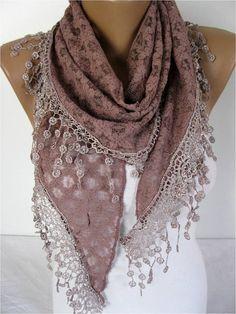 Big SALE 9.90 USD -Lace scarf ,women scarves - guipure -  fashion scarf - gift scarves -Shawl- Fashion Shawls