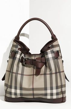 Burberry Belted Check Print Hobo available at Nordstrom - Sale! Shop at Stylizio for women's and men's designer handbags luxury sunglasses watches jewelry purses wallets clothes underwear & more! Burberry Handbags, Hobo Handbags, Purses And Handbags, Burberry Bags, Hobo Purses, Fashion Bags, Fashion Accessories, Fashion Jewelry, Estilo Glamour
