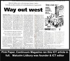 Article by Lidbury in Continnum Magazine & the National Pink Paper (The Pink Paper was a weekly newspaper for lesbians & gay men. Circ. 50,000 copies/week)  #LGBT  http://www.lgbthistorycornwall.blogspot.com