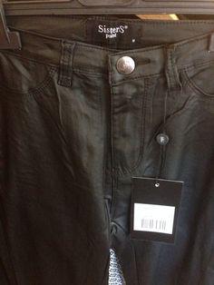 Black coated leather look broeken van SISTERS POINT