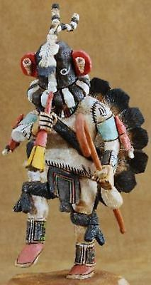 "Milton Howard 20 24"" Hopi Carved Kokopelli Kachina Katsina Doll Sculpture 
