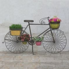 Rustic Bicycle Planter