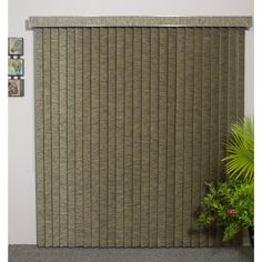 ZNL Vertical Blinds - Edinborough 3 1/2 Free-Hang Fabric (36 Inches Wide x 5 Custom Lengths) with Valan (Moss Point (36 x 30)), Green