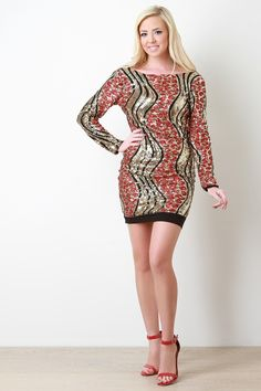 Bold Sequin Backless Mini Dress #site:ladiesboots.us