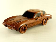 Corvette Stingray - Premium Wood Designs #Military #Car #Truck #Wood premiumwooddesigns.com Wooden Toy Cars, Wood Toys, Military Car, Chevrolet Corvette Stingray, Easy Wood Projects, Children Toys, Wooden Gifts, Wood Plans, Fine Woodworking