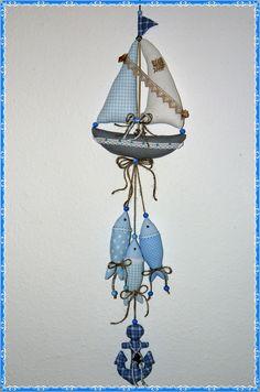 Maritime Girlande* Segelboot* Fische* Anker*Tilda Art* Handarbeit* Baddeko in Möbel & Wohnen, Dekoration, Sonstige   eBay!
