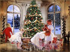gifs animes noel - Page 7 Christmas Scenes, Christmas Past, Merry Christmas And Happy New Year, Christmas Pictures, Christmas Greetings, Winter Christmas, Christmas Morning, Xmas, Gif Noel