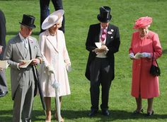 Camilla, Duchess of Cornwall, Prince Charles, Prince of Wales and Queen Elizabeth II on the fourth day of Royal Ascot at Ascot Racecourse  on June 17, 2016 in Ascot, England.