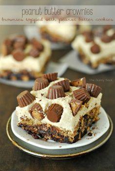 Peanut Butter Crownies Recipe - http://www.jellypin.com/peanut-butter-crownies-recipe/