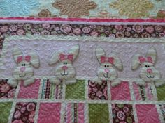 Bunny Baby Quilt Close Up Peace, Robert from Nancy's Fabrics.