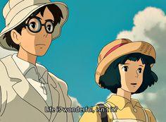 Studio Ghibli Quotes, Studio Ghibli Films, Art Studio Ghibli, Film Anime, Anime Manga, Anime Art, Hayao Miyazaki, Personajes Studio Ghibli, Le Vent Se Leve