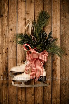 Image result for ice skates christmas decoration