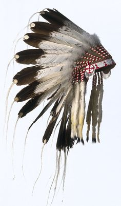 Native American Headdress :: Eagle feathers are used all over the world as ceremonial instruments and are considered to be the most sacred healing tools. They are a symbol of power, healing and wisdom. Eagle represents a state of grace that is reached through inner work, understanding and passing the initiation tests that result from reclaiming our personal power.