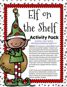 Elf on the Shelf Resource Pack (Aligned to Common Core)