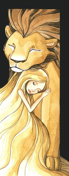 She and Her Lion by Cristiana Palestini -