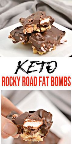Keto fat bombs you wont be able to pass up! {Easy} low carb keto fat bomb recipe for the best Rocky Road Chocolate fat bombs. Perfect for ketogenic diet w/ keto friendly ingredients. Low Carb Desserts, Low Carb Recipes, Dessert Recipes, Breakfast Recipes, Diet Recipes, Dessert Dishes, Dessert Food, Healthy Recipes, Shake Recipes