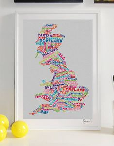 Britain Typography Print by spdesign, the perfect gift for Explore more unique gifts in our curated marketplace. Vivid Colors, Colours, Unique Gifts, Great Gifts, Tea Culture, Sign Printing, Frame It, Typography Prints