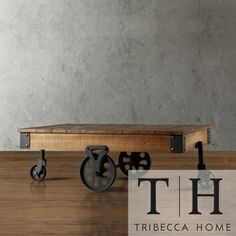TRIBECCA HOME Myra Vintage Industrial Modern Rustic Cocktail Table | Overstock.com Shopping - Great Deals on Tribecca Home Coffee, Sofa & End Tables