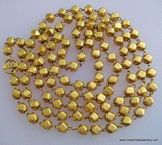 20k gold beads chain necklace vintage by indiantribaljewelry, $1949.00
