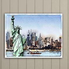 New York Skyline New York Landmarks Famous Locations Statue