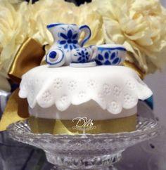 Mini Bolo decorado para Chá de Cozinha.