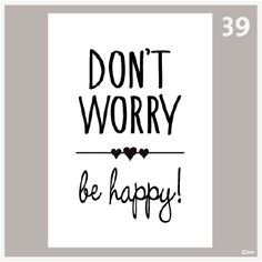 Tekstposter Don't worry be happy 39 Hand Lettering Quotes, Brush Lettering, Calligraphy Quotes Doodles, Doodle Quotes, Jolie Phrase, Motivational Quotes, Inspirational Quotes, Drawing Quotes, Lettering Tutorial