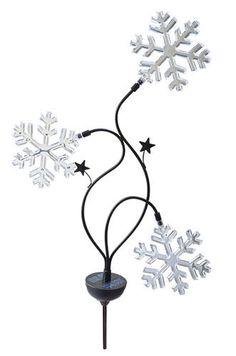 "38"" Solar Light with Three Snowflakes at Menards; $7.99"