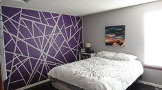 Falfestés saját kezűleg - lila mintás fal