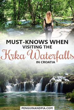 Krka National Park is certainly a highlight of any Croatia trip - the waterfalls look stunning! We share some important must-knows when visiting the Krka Falls so you won't have to worry about bus schedules, entrance fees or swimming in the park! Visit Croatia, Croatia Travel, Europe Destinations, Parc National, National Parks, Ex Yougoslavie, Krka Waterfalls, Oahu, Coach Travel