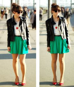 Green. (by Maddy C) http://lookbook.nu/look/1817220-green