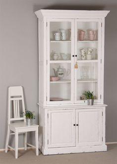 Valkoinen Saaristo-vitriini 112x51x225 cm Decor, Furniture, Cabinet, Home Decor, China Cabinet, Storage