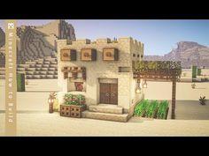 Minecraft Desert House, Minecraft Oasis, Minecraft Small House, Cute Minecraft Houses, Minecraft House Designs, Minecraft Blueprints, Minecraft Structures, Minecraft Buildings, Simple Minecraft Builds