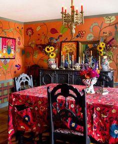 88 Stylish Bohemian Style Home Decor Ideas - Bohemian Home Bohemian Style Home, Bohemian House, Bohemian Interior, Bohemian Living, Bohemian Gypsy, Modern Bohemian, Gypsy Style, Meubles Peints Style Funky, Interior Bohemio