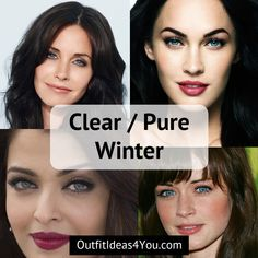 """Go to: Cool Skin Tone >Winter > Clear Winter / Pure Winter  You're a ClearWinter! Also known as a """"pure winter"""" in the 4x4 color system. You are cool, clearand deep. Bright vivideyes. Deephair. Go ahead and download your purewintercolor palette and order your purewinte"""