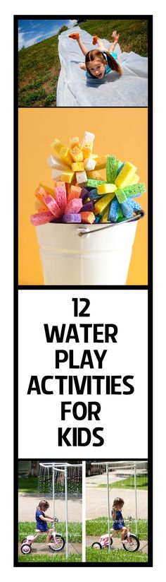 12 Water Play Activities for Kids--keep your kids busy this summer with these fun water play ideas.
