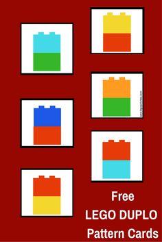 Actividad para construir patrones con LEGO DUPLO