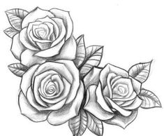 simple rose outline drawing google search tattoos pinterest