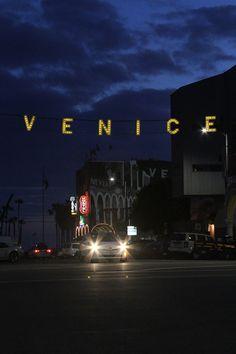 Venice, California  at night after a storm  (May 2013)