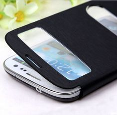 Battery Housing Sleeve Original View Leather Case Flip Cover Shell Holster For Samsung Galaxy S3 I9300. Click visit to buy #FlipCase #case
