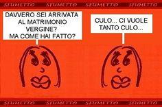 #barzelletta #vignetta #battuta #divertente #ridere #umorismo #matrimonio #vergine #culo #sesso