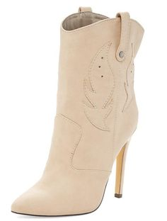 1bdeba74f04 CHLOE266 NATURAL STITCH POINTED TOE STILETTO BOOT FROM  12.88 -  27.88 Wholesale  Fashion Shoes