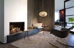 modern gas fireplace living room design ideas beige carpet round tables
